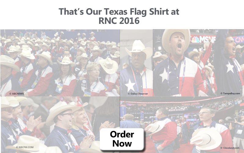 Texas Flag Shirt at 2016 RNC